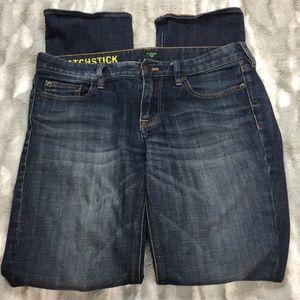 J crew matchstick jeans size 29